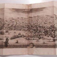 Arte: 1704 PETER VAN DER AA THESAURUS GRAEVIUS VISTA PLANO DE GENOVA GENUA ITALIA CM. 87,8X39,2. Lote 236838460