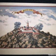 Arte: MAPA DE MONTJUÏC DE GIRONA - BEAULIEU - GRABADOR LAURENS SCHERM - AÑO 1692 - 18.50 X 13 CM. Lote 236898105