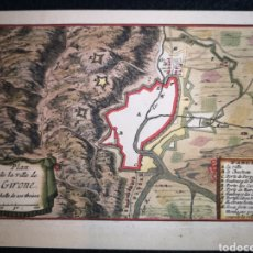 Arte: MAPA DE GIRONA - BEAULIEU - GRABADOR LAURENS SCHERM - AÑO 1692 - 18 X 13 CM. Lote 236901970