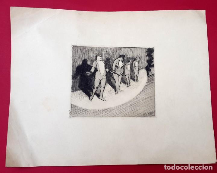 Arte: CIRCO - Henri-Gabriel Ibels - GRABADO - AGUAFUERTE - Foto 2 - 237105635