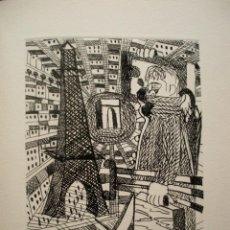 Arte: JORDI CURÓS, GRABADO 26 X 35 CM. PRUEBA DE ARTISTA. PARIS. FIRMADO.. Lote 237441125