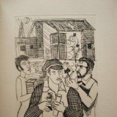 Arte: JORDI CURÓS, GRABADO 35 X 26 CM. PRUEBA DE ARTISTA. FIRMADO.. Lote 237446460