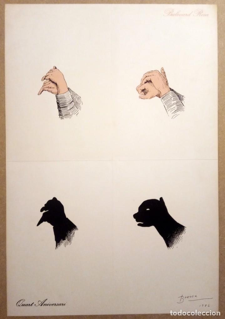 POEMA VISUAL PER AL BULEVARD ROSA, 1982 - JOAN BROSSA (Arte - Grabados - Contemporáneos siglo XX)