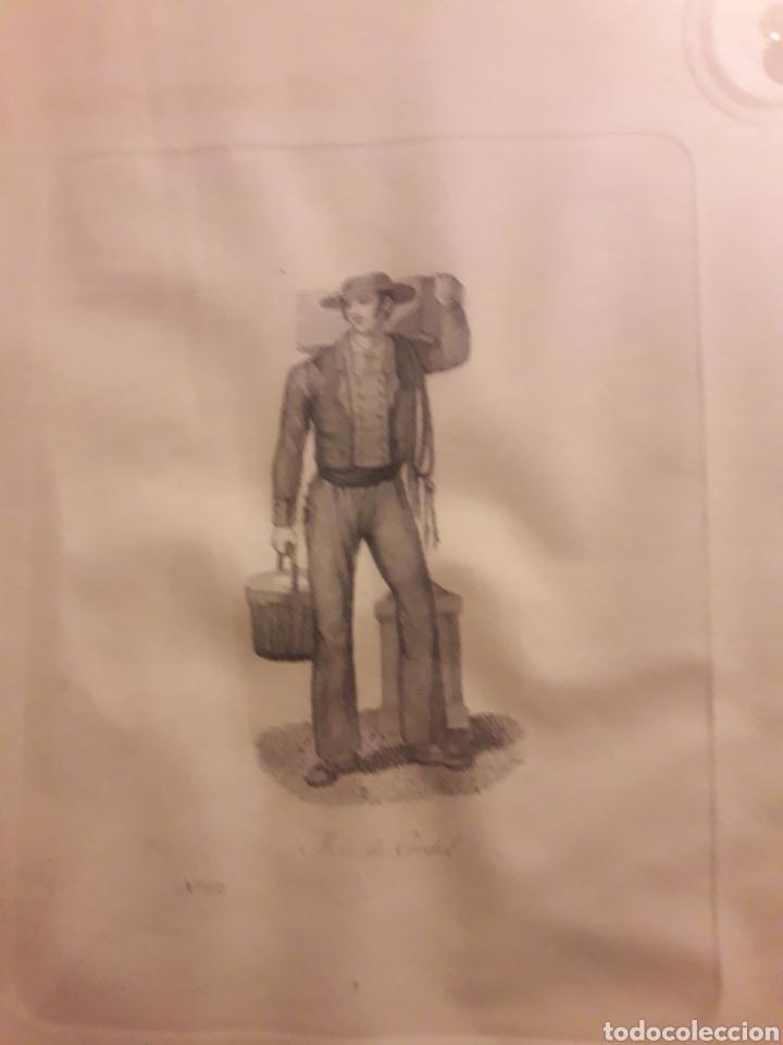 Arte: Antiguo grabado, Mozo de Cordel - Foto 2 - 237752720