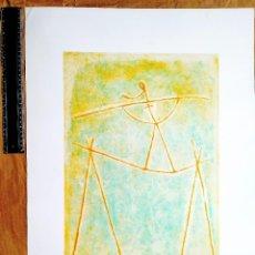 """Arte: VENTO - """"EQUILIBRISTA"""" - LÁMINA COLECCIÓN """"ARTE Y TRABAJO"""" - MINISTERIO DE TRABAJO - 1985. Lote 237931075"""