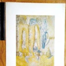 """Arte: LUCIO MUÑOZ - """"SIN TÍTULO"""" - LÁMINA COLECCIÓN """"ARTE Y TRABAJO"""" - MINISTERIO DE TRABAJO - 1985. Lote 237931580"""