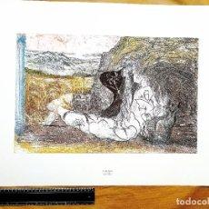 """Arte: FRANCO - """"PSIQUE Y CUPIDO"""" - LÁMINA COLECCIÓN """"ARTE Y TRABAJO"""" - MINISTERIO DE TRABAJO - 1985. Lote 237932180"""