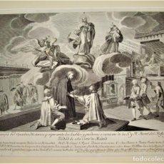 Arte: GRABADO SIGLO XVIII.HERMANDAD DEL REFUGIO Y PIEDAD DE ESTA CORTE DE MADRID.REFUGIO DE MADRID. Lote 238028410