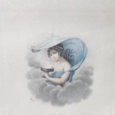 Arte: GRABADO AL COBRE ANTIGUO FRANCÉS COLOREADO A MANO PIEZA UNICA. Lote 238061635