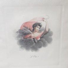 Arte: GRABADO AL COBRE ANTIGUO FRANCÉS COLOREADO A MANO PIEZA UNICA. Lote 238062285