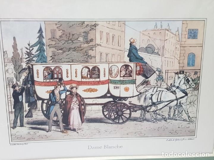 Arte: Grabado antiguo en marco de carton Dame Blanche - Foto 2 - 238321140