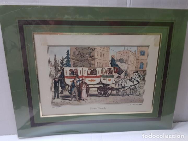 Arte: Grabado antiguo en marco de carton Dame Blanche - Foto 3 - 238321140