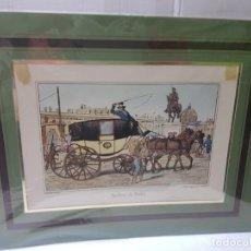 Arte: GRABADO ANTIGUO EN MARCO DE CARTON BERLINE DU DELTA. Lote 238321680