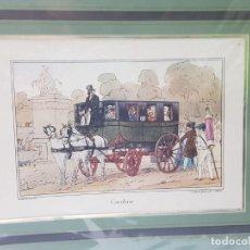 Arte: GRABADO ANTIGUO EN MARCO DE CARTON CAROLINE. Lote 238321940