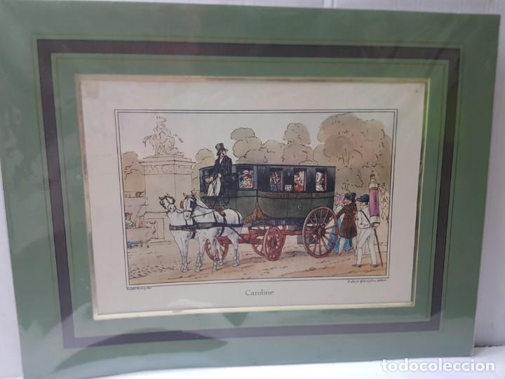 Arte: Grabado antiguo en marco de carton Caroline - Foto 3 - 238321940
