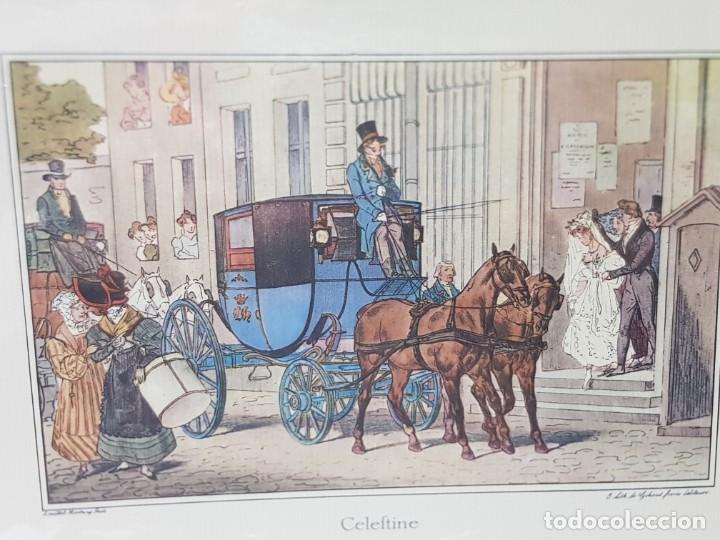 Arte: Grabado antiguo en marco de carton Celeftine - Foto 2 - 238322350