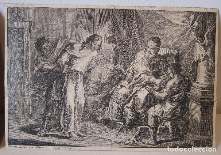 Arte: Miguel Gamborino, 2 estampas del Via Crucis, según dibujos de Vicente López. HACIA 1800. - Foto 2 - 238405960