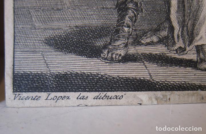 Arte: Miguel Gamborino, 2 estampas del Via Crucis, según dibujos de Vicente López. HACIA 1800. - Foto 4 - 238405960