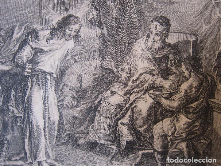 Arte: Miguel Gamborino, 2 estampas del Via Crucis, según dibujos de Vicente López. HACIA 1800. - Foto 5 - 238405960