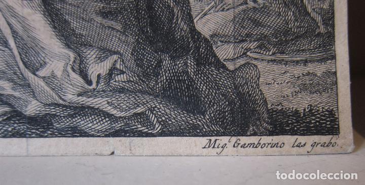 Arte: Miguel Gamborino, 2 estampas del Via Crucis, según dibujos de Vicente López. HACIA 1800. - Foto 6 - 238405960