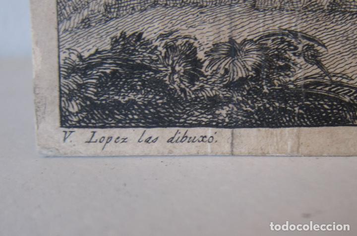 Arte: Miguel Gamborino, 2 estampas del Via Crucis, según dibujos de Vicente López. HACIA 1800. - Foto 7 - 238405960