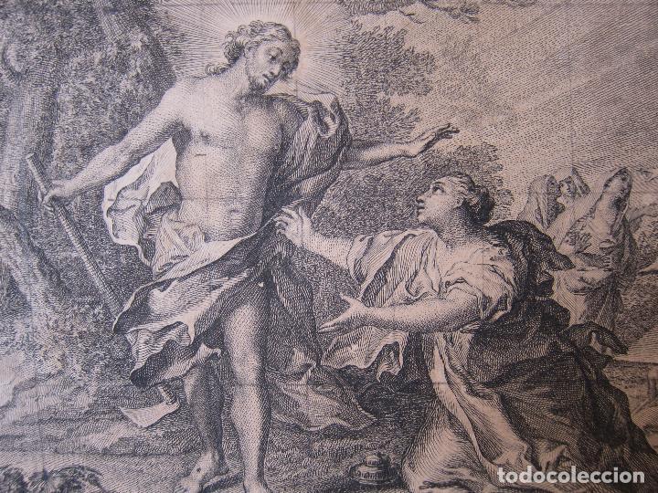 Arte: Miguel Gamborino, 2 estampas del Via Crucis, según dibujos de Vicente López. HACIA 1800. - Foto 8 - 238405960