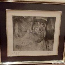 Arte: GRABADO DE JOSEP BADIA SABATER. INFANT CONVALESCENT. . 50X44 CON MARCO. Lote 238678730