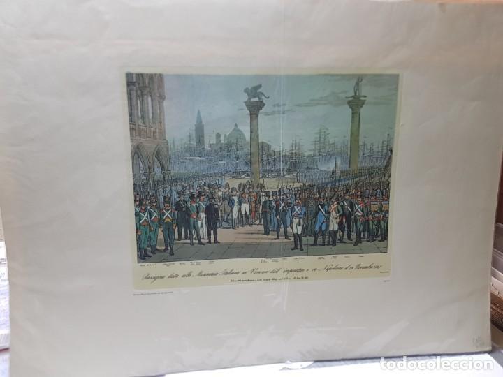 Arte: Espectacular Grabado en plancha de Cobre Coloreado a Mano Tropas de Napoleon en Venecia - Foto 2 - 238825235