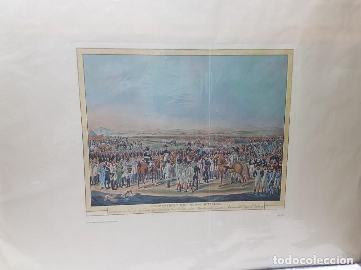 Arte: Espectacular Grabado en plancha de Cobre Coloreado a Mano Infantería del Reino de Italia - Foto 4 - 238830755