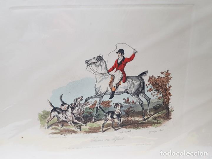 ESPECTACULAR GRABADO AL COBRE INGLÉS COLOREADO A MANO (Arte - Grabados - Modernos siglo XIX)