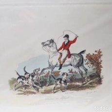 Arte: ESPECTACULAR GRABADO AL COBRE INGLÉS COLOREADO A MANO. Lote 238833615