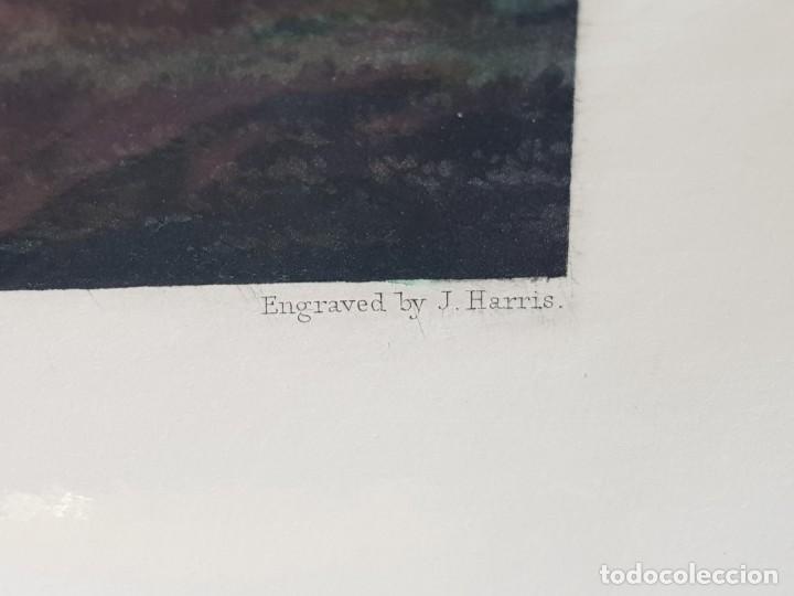 Arte: Espectacular Grabado al Cobre Ingles Coloreado a Mano Caza del Zorro - Foto 4 - 238838110