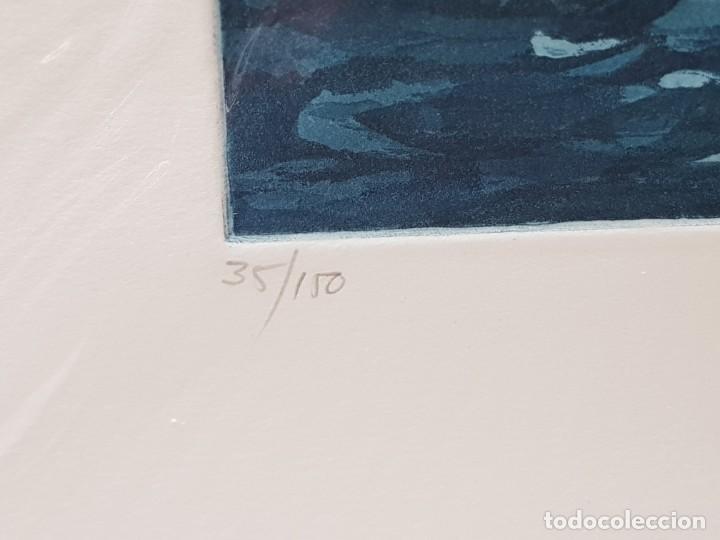 Arte: Espectacular Grabado al cobre numerado y firmado N Scott acabado a mano - Foto 3 - 238843165