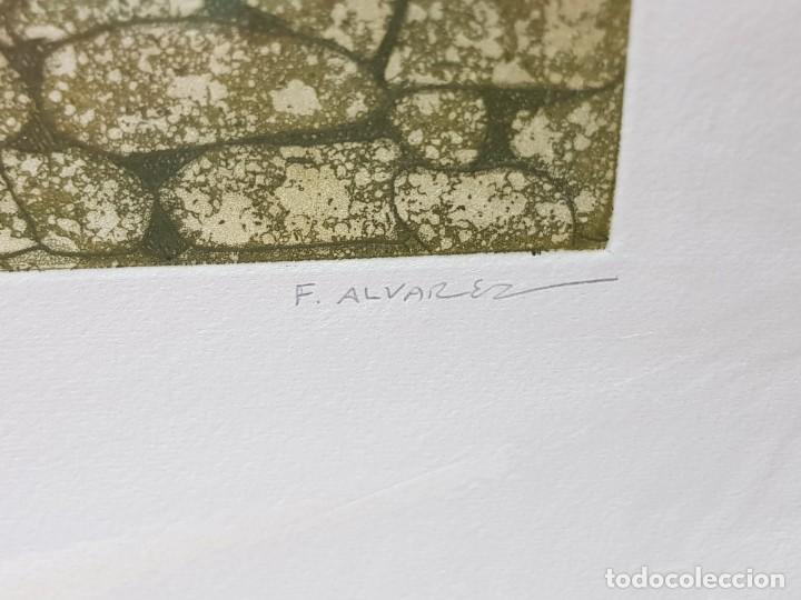 Arte: Espectacular Grabado al cobre numerado y firmado F.Alvarez acabado a mano - Foto 4 - 238843900