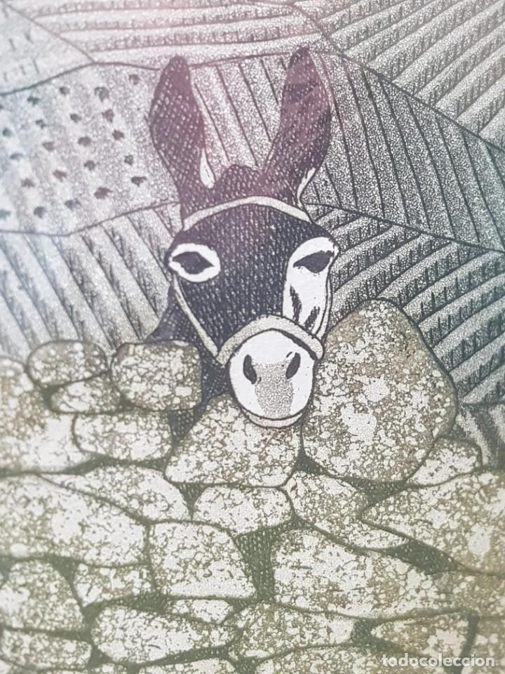 Arte: Espectacular Grabado al cobre numerado y firmado F.Alvarez acabado a mano - Foto 5 - 238843900