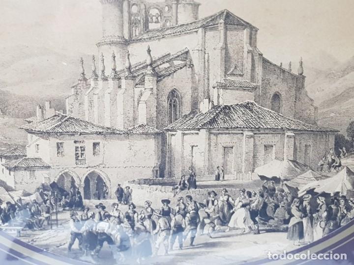 Arte: Grabado antiguo grande Fiestas Medievales - Foto 2 - 239937810