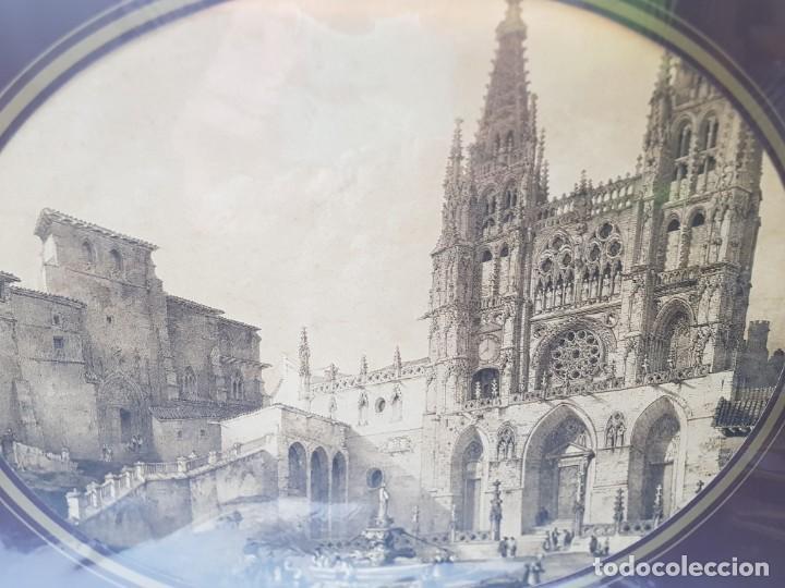 Arte: Grabado antiguo grande Notre Dame - Foto 2 - 239938125