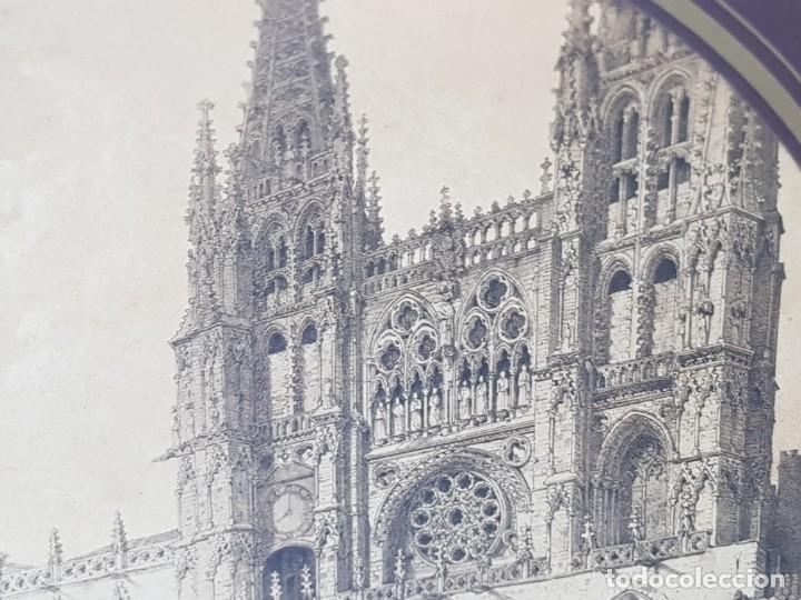 Arte: Grabado antiguo grande Notre Dame - Foto 3 - 239938125