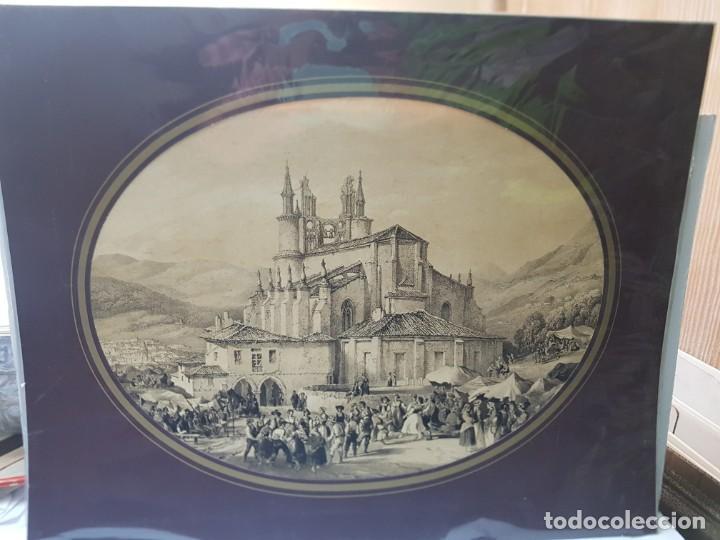Arte: Grabado antiguo grande Paisaje Medieval en fiesta - Foto 2 - 239938295