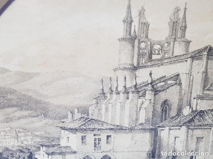 Arte: Grabado antiguo grande Paisaje Medieval en fiesta - Foto 4 - 239938295