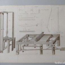 Arte: BONITO GRABADO DE UNA PRENSA LITOGRAFICA, MEMORIAS DE AGRICULTURA Y ARTES, OCTUBRE DE 1815. Lote 240024880