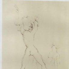 "Arte: LEONOR FINI. ""LA JEUNE FILLE"". GRABADO FIRMADO Y JUSTIFICADO E.A. A LÁPIZ. 49 X 64 CM.. Lote 240162965"