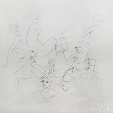 Arte: LEONOR FINI. VISAGES DE FEMMES. GRABADO. 66 X 49CM. FIRMADO Y JUSTIFICADO EA A LÁPIZ.. Lote 240426350