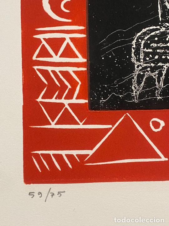 Arte: Max Papart , Odisee , aguafuerte firmado a lápiz , edición de 75 ejemplares , etching - Foto 2 - 240494020