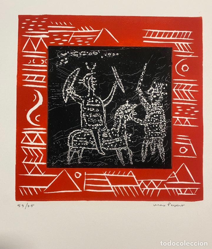Arte: Max Papart , Odisee , aguafuerte firmado a lápiz , edición de 75 ejemplares , etching - Foto 4 - 240494020