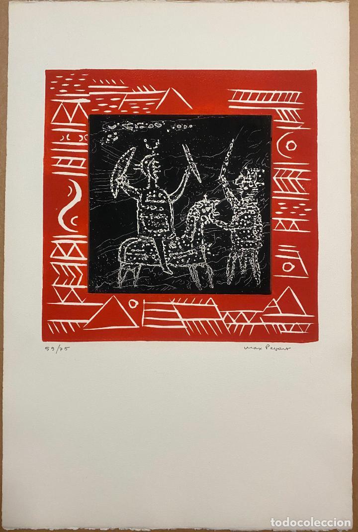 MAX PAPART , ODISEE , AGUAFUERTE FIRMADO A LÁPIZ , EDICIÓN DE 75 EJEMPLARES , ETCHING (Arte - Grabados - Contemporáneos siglo XX)