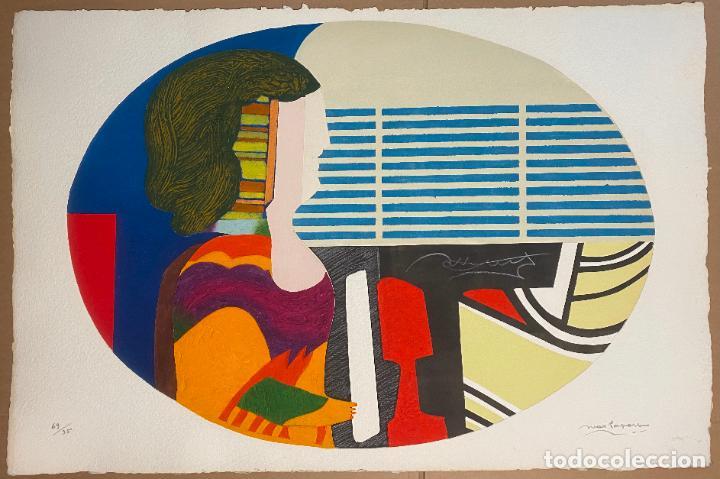 MAX PAPART , PIANO BLUES , PROFILE DE FEMME , CARBORUNDUM , EDICIÓN DE 95 EJEMPLARES , ETCHING (Arte - Grabados - Contemporáneos siglo XX)