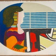 Arte: MAX PAPART , PIANO BLUES , PROFILE DE FEMME , CARBORUNDUM , EDICIÓN DE 95 EJEMPLARES , ETCHING. Lote 240506590