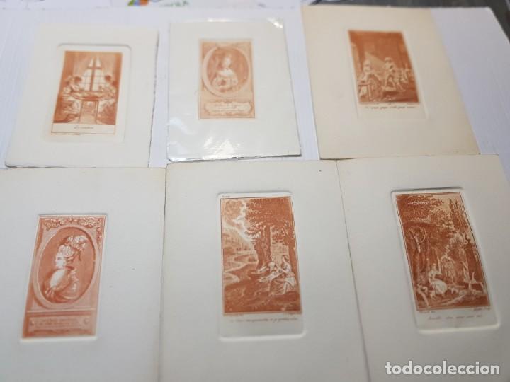 GRABADOS ANTIGUOS AL COBRE FRANCESES LOTE 6 (Arte - Grabados - Modernos siglo XIX)