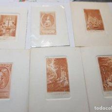Arte: GRABADOS ANTIGUOS AL COBRE FRANCESES LOTE 6. Lote 240512285